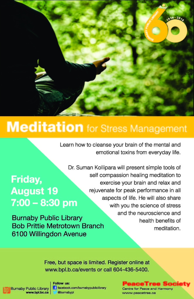 Meditation for stress management-Metrotown
